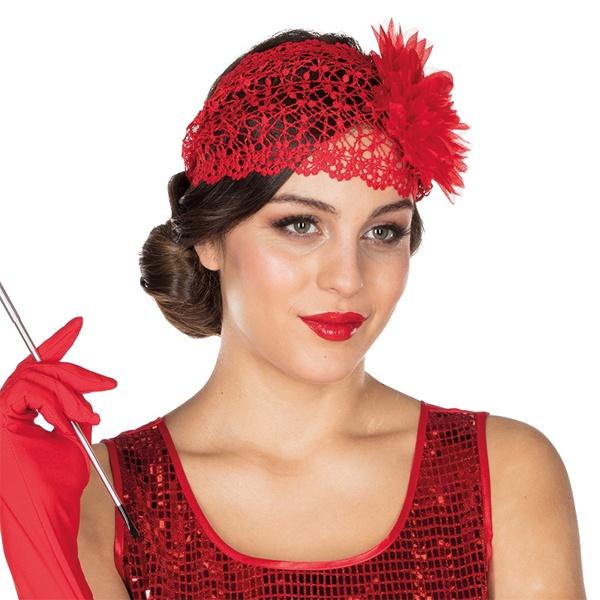 Kostüm-Zubehör Charleston Haarband rot
