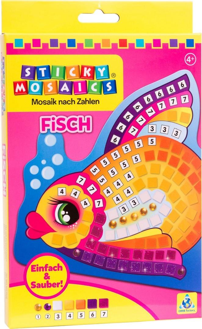 Bastelset Sticky Mosaik nach Zahlen Fisch