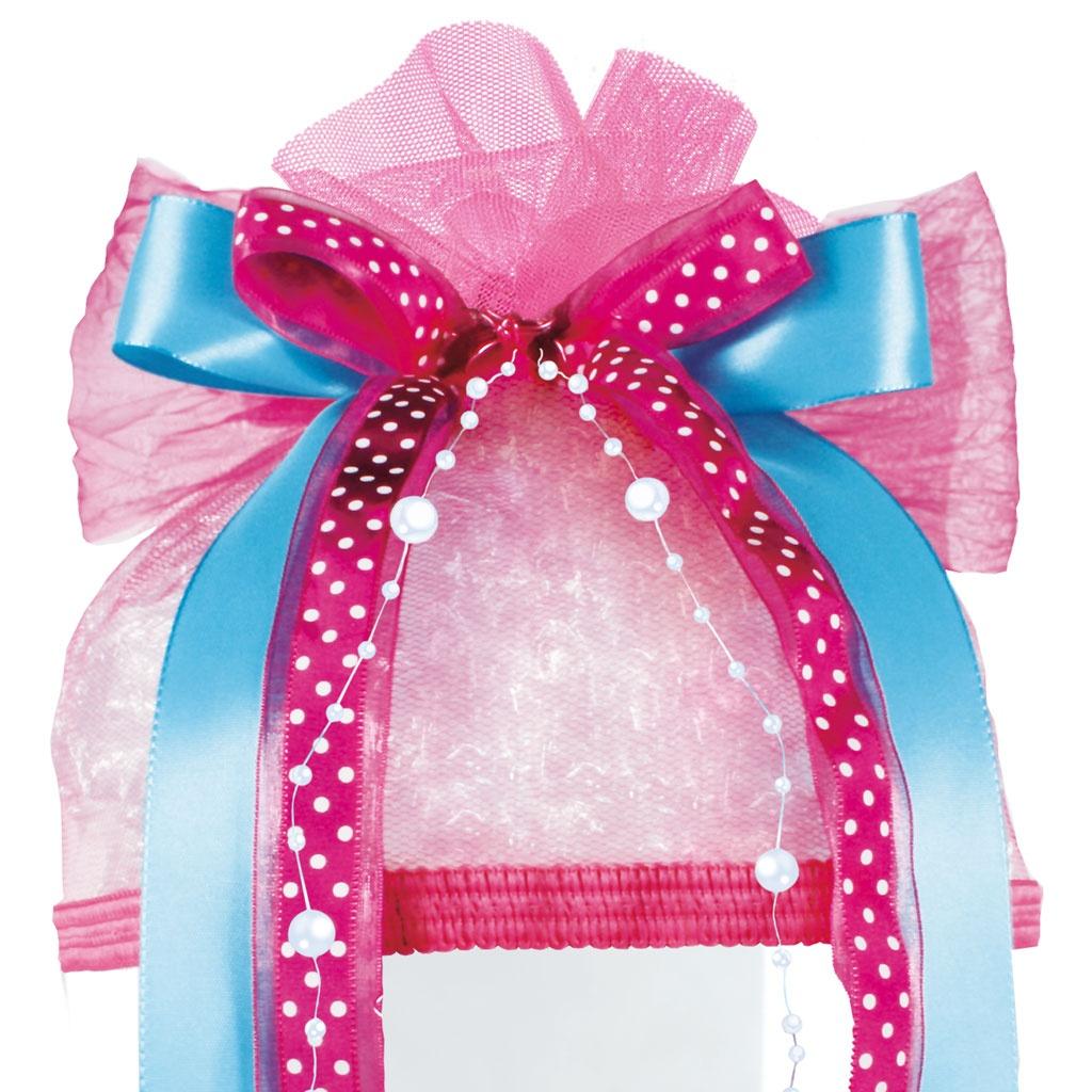 Schmuck-Schleife Pink Dots für Schultüten