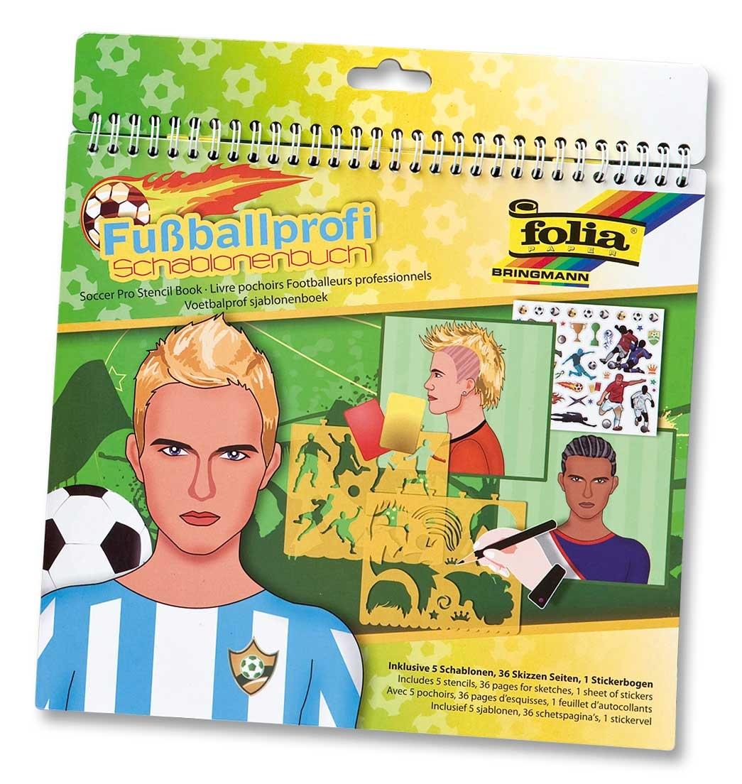 Folia Schablonenbuch Fussballprofi