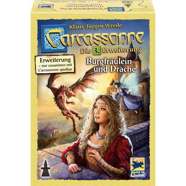 Carcassonne Burgfräulein und Drache  3.Erweiterung