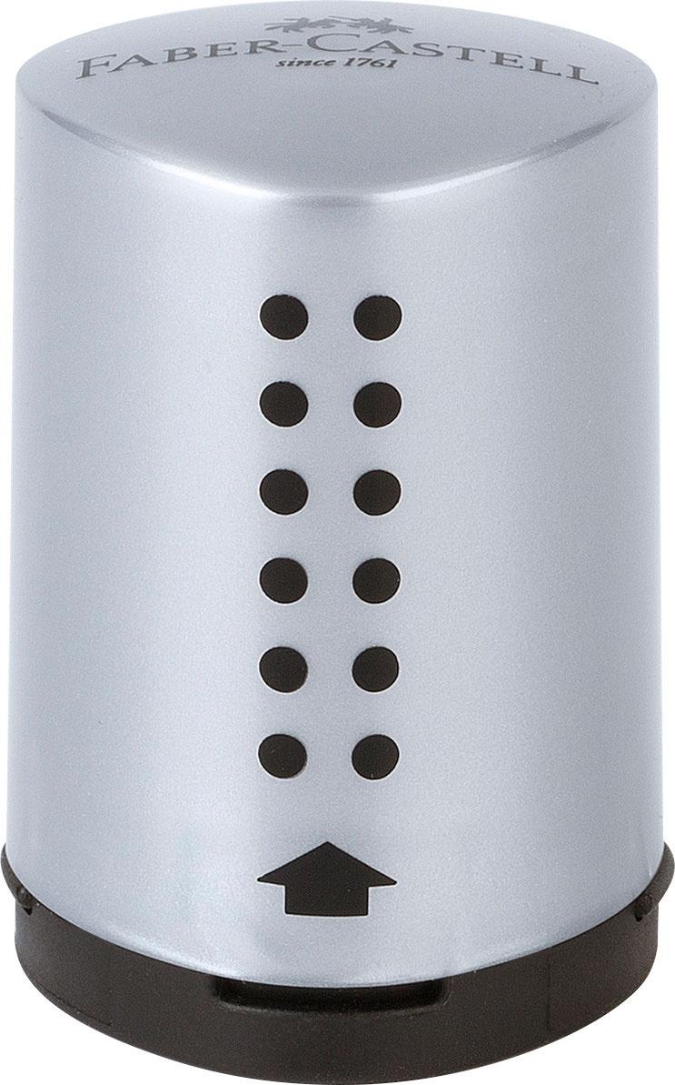 Faber Castell Einfachspitzdose Grip mini silber