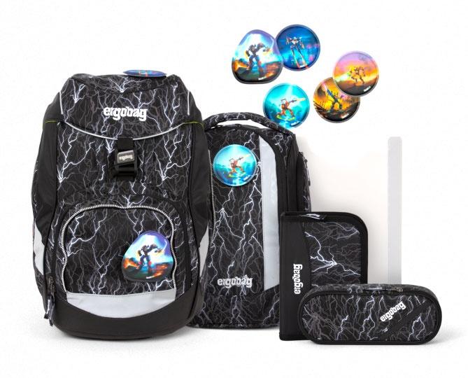 Ergobag Pack Schulrucksack-Set Super ReflektBär Glow