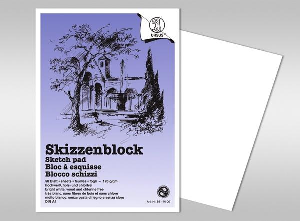 Skizzenblock A5 weiss