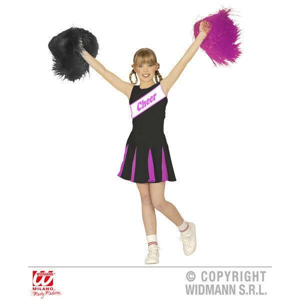 Kostüm Cheerleader schwarz/pink Gr. 140
