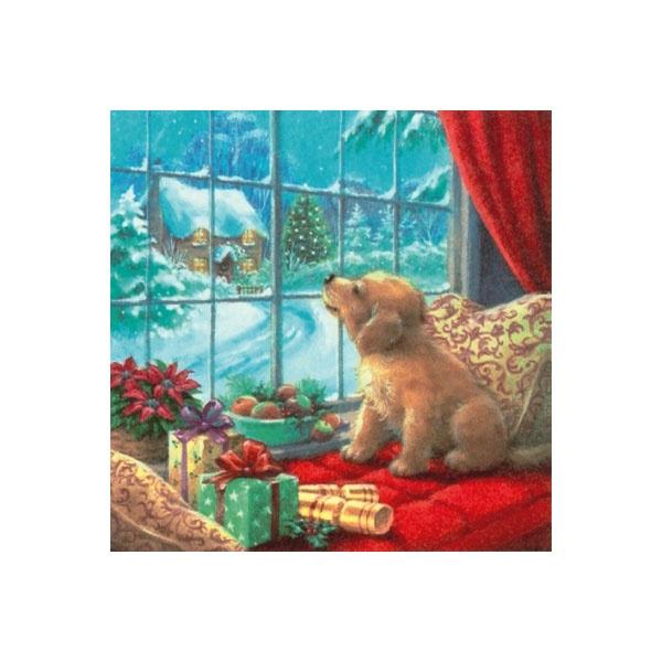 Servietten Weihnachten Waiting Kitty