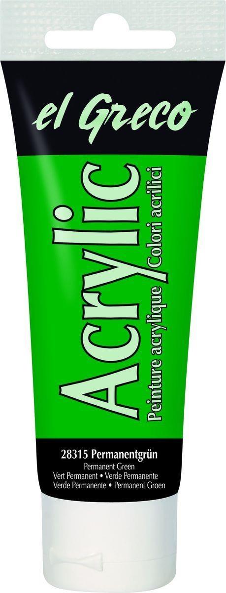 El greco Acrylic Acrylfarbe Permanentgrün 75 ml
