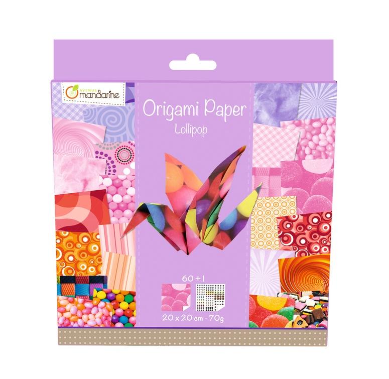 Avenue Mandarine Origami Papier 20 x 20 cm Lollipop