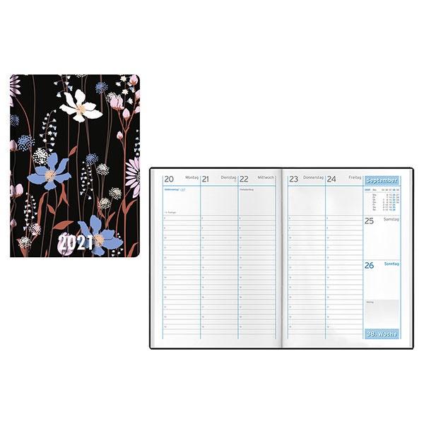 Idena Minitimer (Kalender) A6 Natur Blume 2021