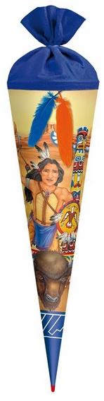 Roth Schultüte Indianer mit 2 Federn 70 cm