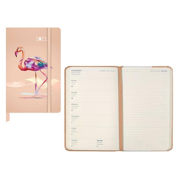 Idena Agenda (Kalender) 2021 Flamingo