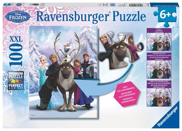 Disney Die Eiskönigin Puzzle 100 Teile Eisige Unterschiede