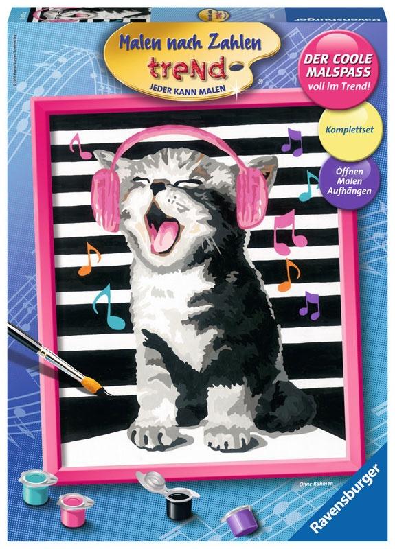 Malen nach Zahlen Singing Cat