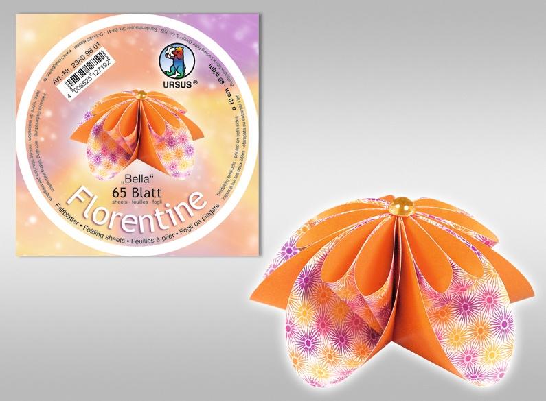 Florentine-Faltblätter Bella, 10cm rund