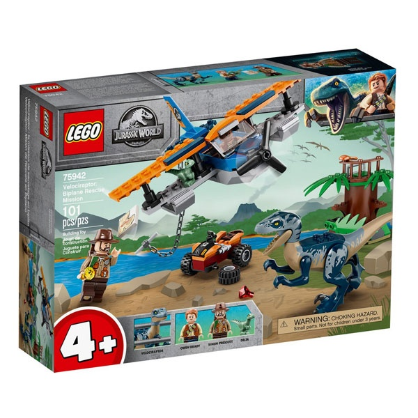 Lego Jurassic World 75942 Velociraptor: Rettungsmission mit