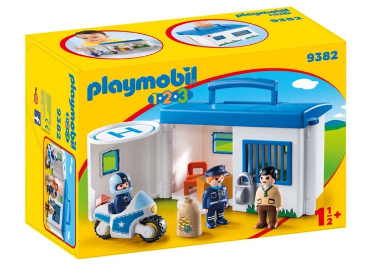 Playmobil 9382 1.2.3 Mitnehm-Polizeistation