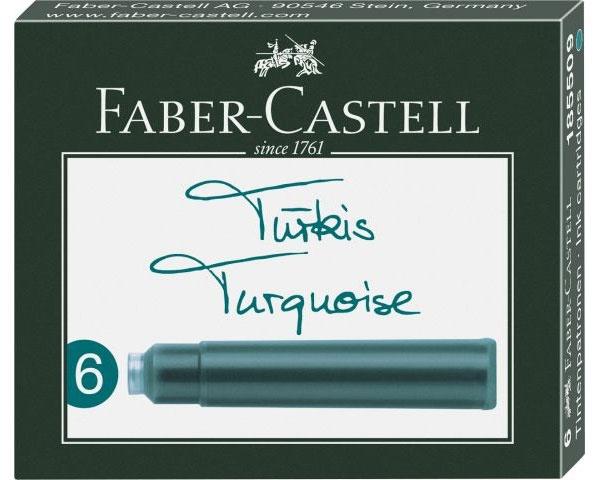 Faber Castell Tintenpatronen türkis 6er