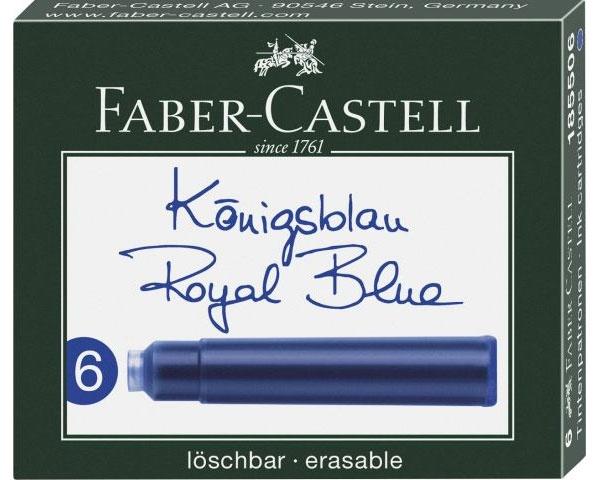 Faber Castell Tintenpatronen königsblau 6er