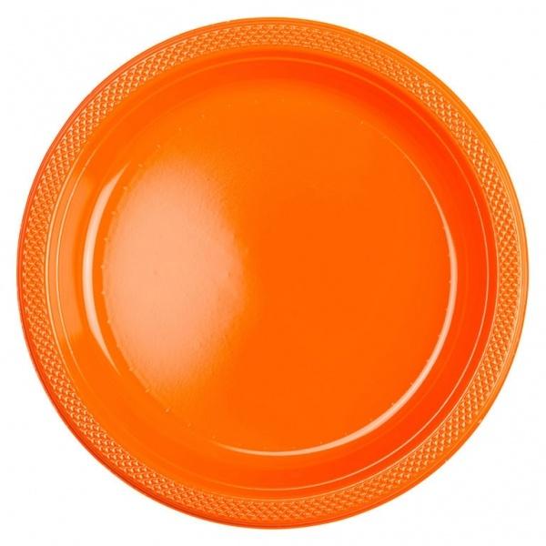 Partyteller Kunsstoff 10 Stück orange 22,8 cm