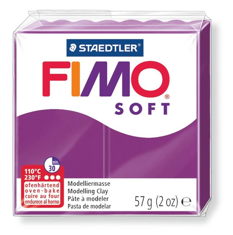 Staedtler Modelliermasse Fimo soft purpur 57 g