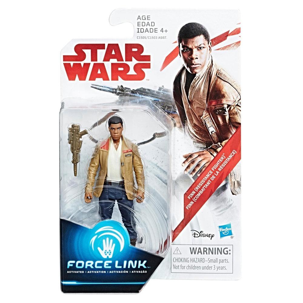 Star Wars Episode 8 Force Link Figur Finn Resistance Fighter