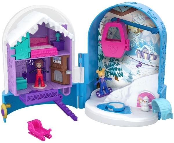 Polly Pocket World Schneespaß Schatulle FRY37 von Mattel