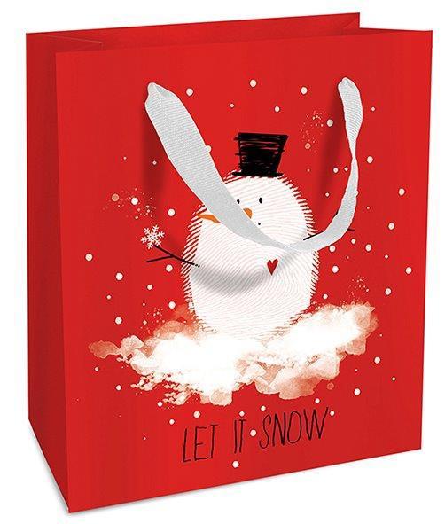 Geschenktasche Weihnachten Bobby Snow 18 x 21 x 8 cm