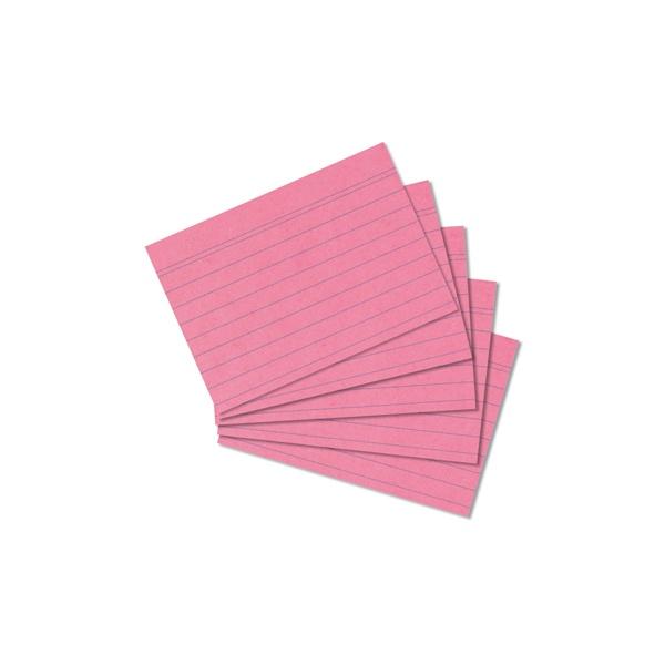 Karteikarten A8 rot liniert 100 Stück