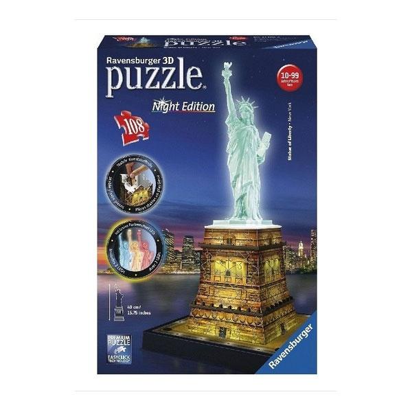 Puzzle Freiheitsstatue mit Licht