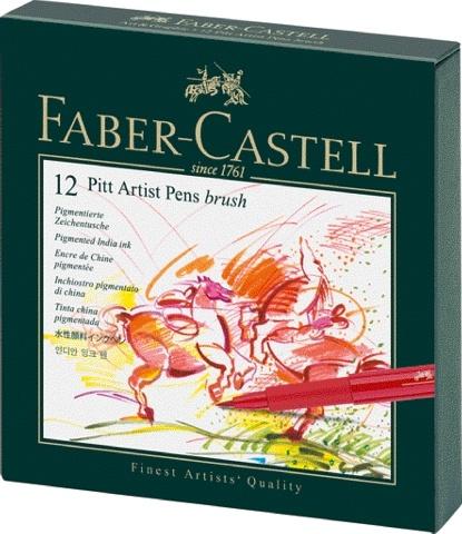 Faber Castell Tuschestift PITT ARTIST PEN 12er Atelierbox