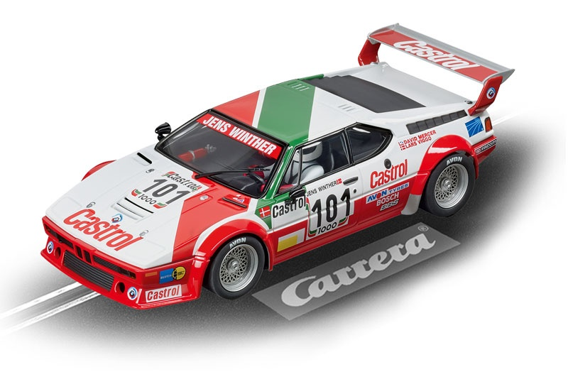Carrera Digital 124 BMW M1 Procar Team Castrol Denmark No101