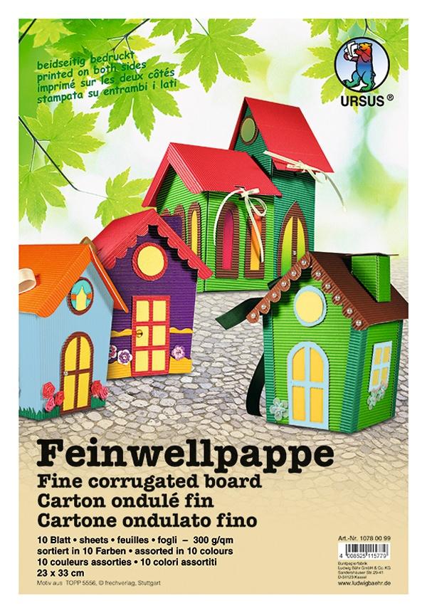 Feinwellpappe, 10Bl., sort. 23x33cm