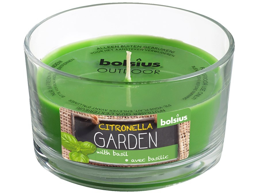 Bolsius Duftglas Outdoor citronella Garden basilikum grün