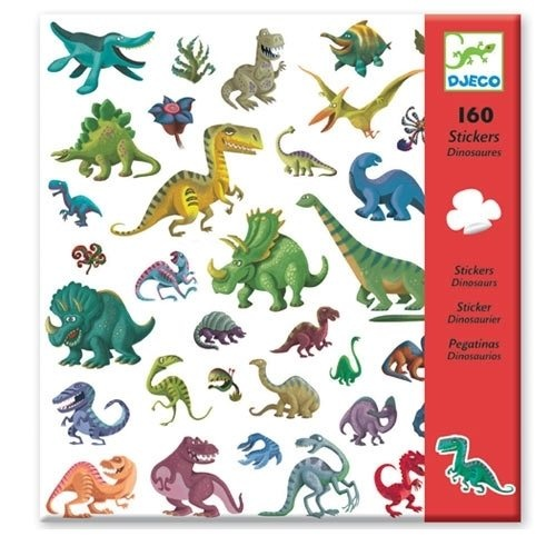Djeco Bastelset 160 Sticker Dinosaurier