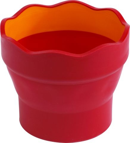 Faber Castell Wasserbecher clic & go rot