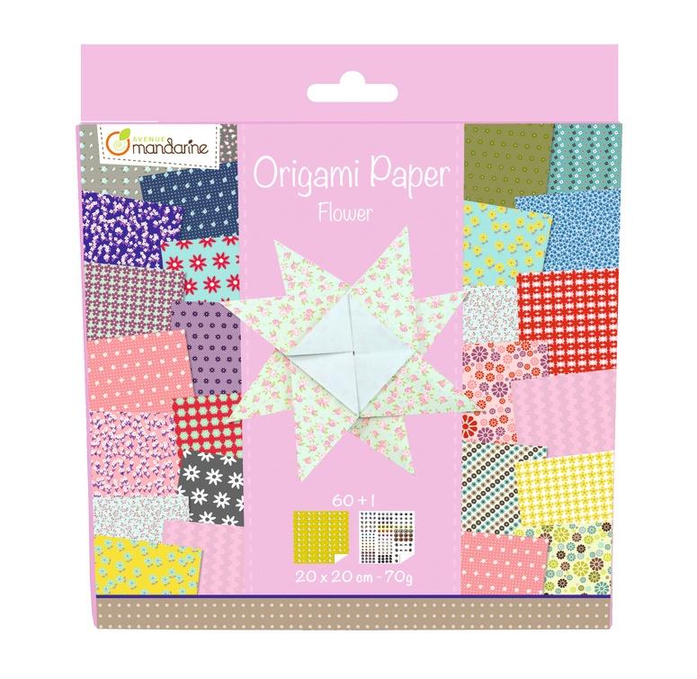 Avenue Mandarine Origami Papier 20 x 20 cm Flowers
