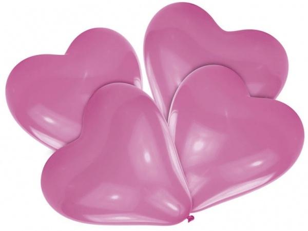Luftballons Herz 4 Stück in pink