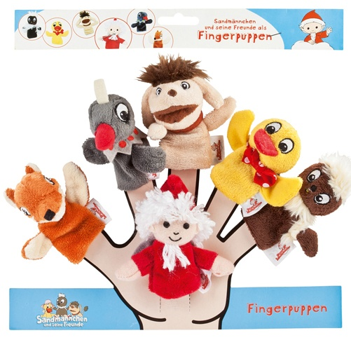 Sandmann Fingerpuppen -Set 6 Figuren