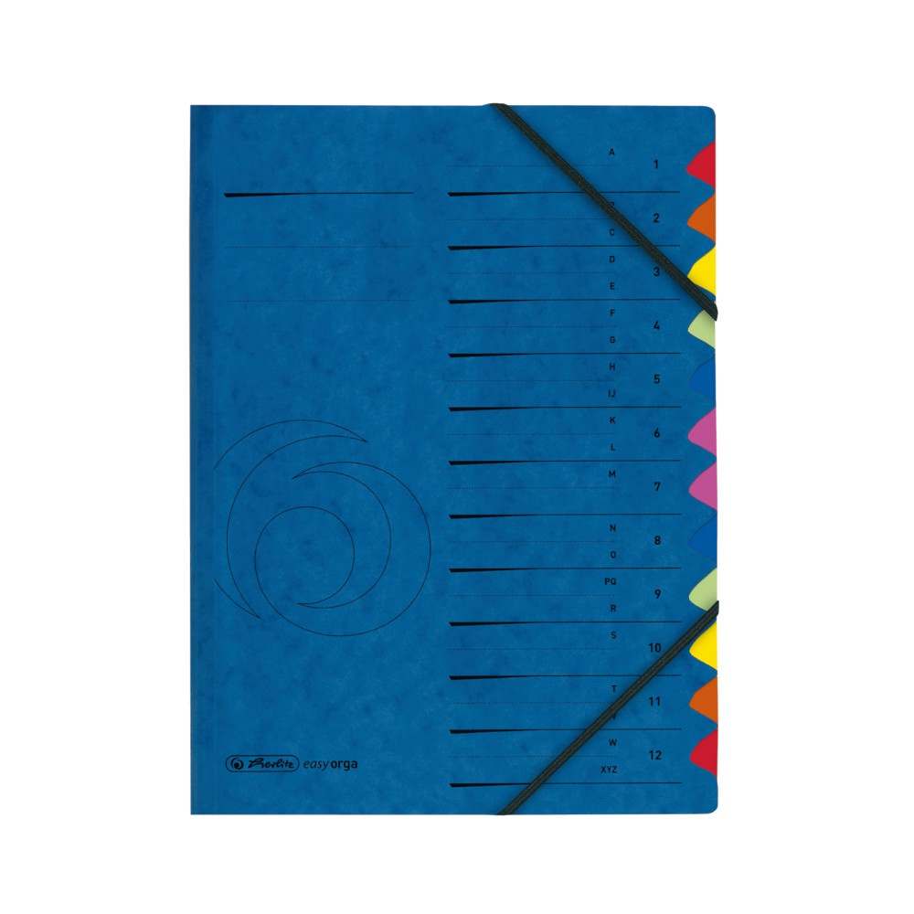 Herlitz Ordnungsmappe Colorspan 1-12/A-Z blau
