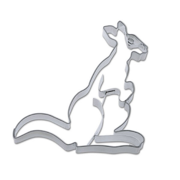 Ausstecher Känguru ca. 13 cm Edelstahl
