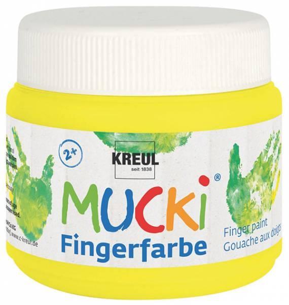 Mucki Fingerfarbe Neon-Quietschgelb 150 ml