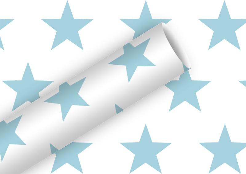 Geschenkpapier Grand Star skyblue