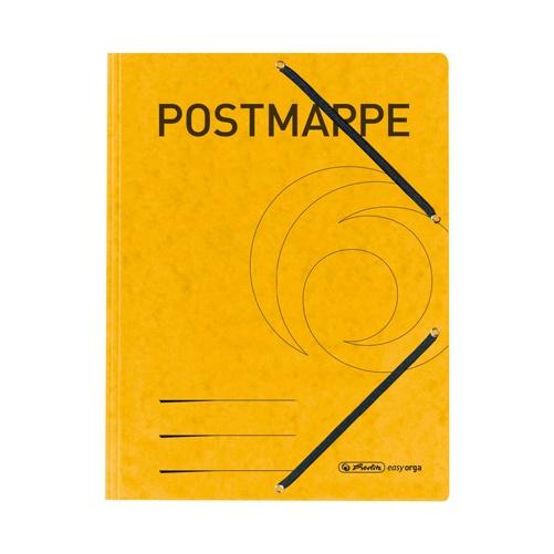 Postmappe Einschlagmappe mit Gummizug gelb