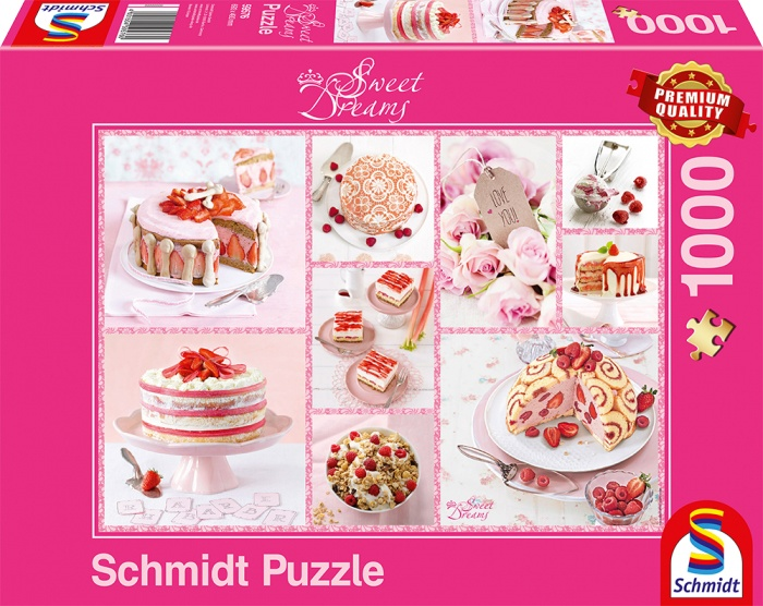 Schmidt Spiele Puzzle Rosa Tortenglück 1000 Teile
