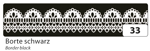 Folia Washi Tape Klebeband Borte schwarz