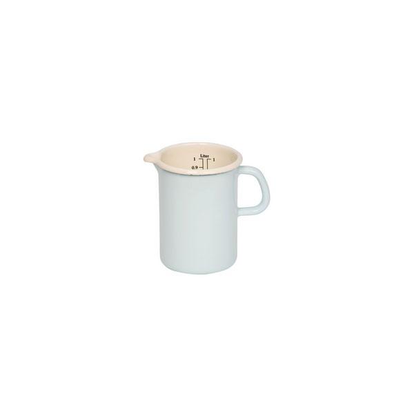 Riess Emaille Küchenmaß 1l pastelltürkis