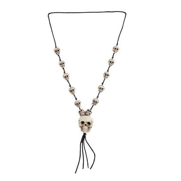 Kostüm-Zubehör Halsband Skulls 58cm
