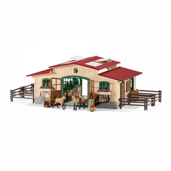 Schleich Farm World Pferdestall mit Pferden und Zubehör