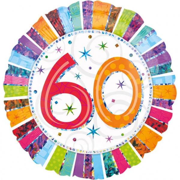 Folienballon Geburtstag Zahl 60 45 cm