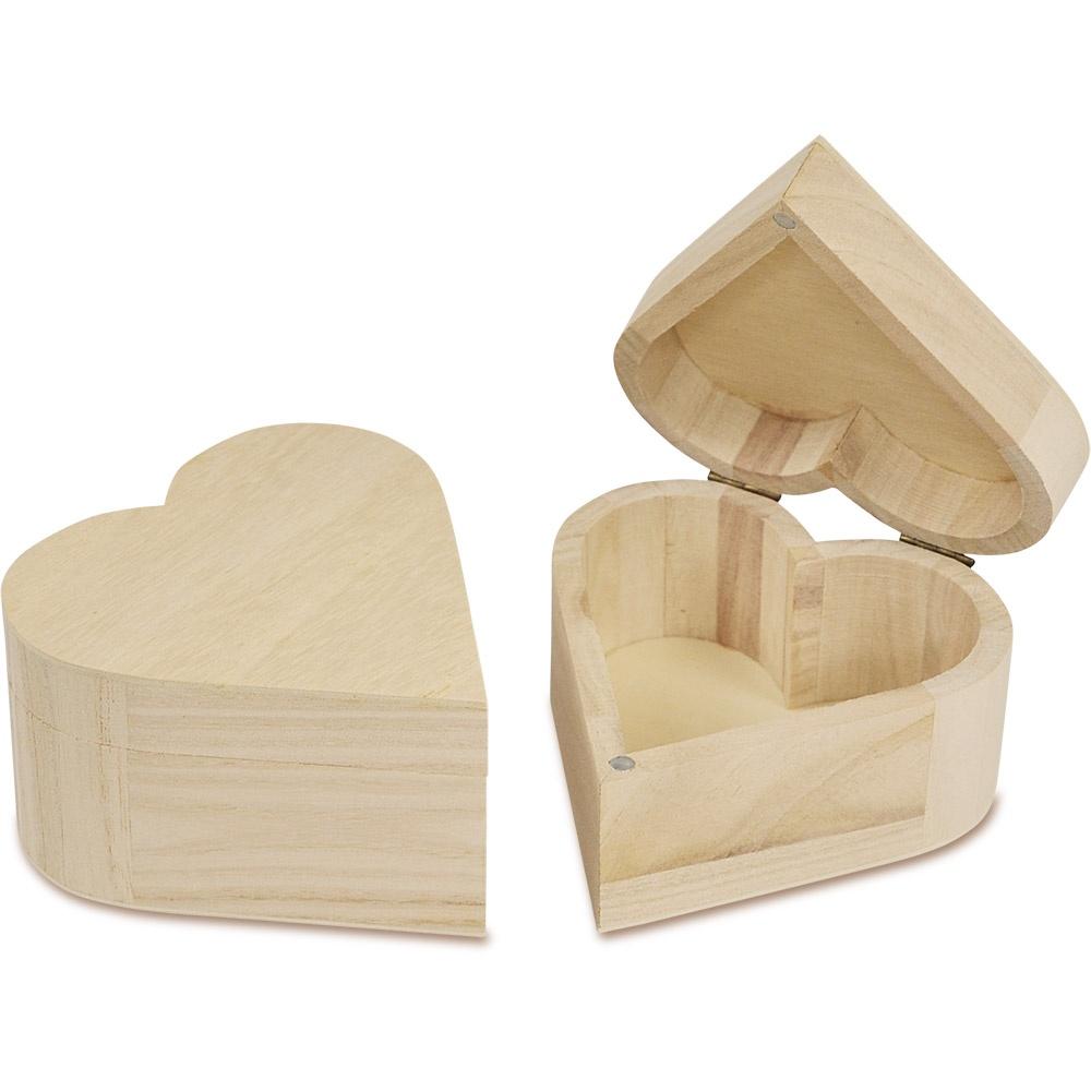 Herzdose aus Holz zum individuellen Gestalten